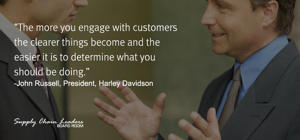 John Russell Customer Engagement Quote