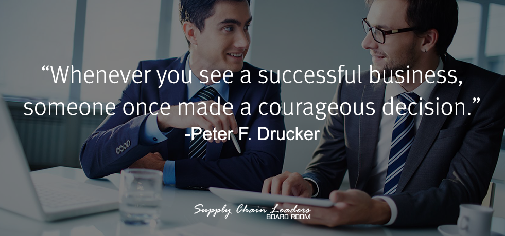Peter Drucker Decision Quote